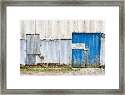 Old Warehouse Framed Print by Tom Gowanlock