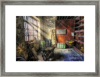 Olde Victorian Slate Workshop Framed Print by Ian Mitchell