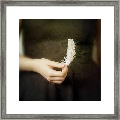 Olivia's Last Breath Framed Print by Violet Gray