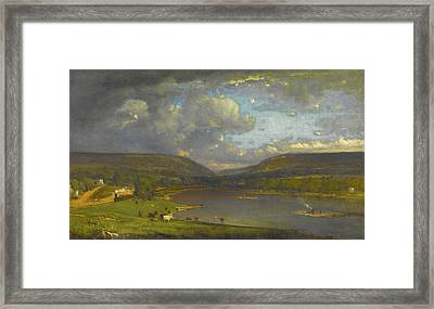 On The Delaware River Framed Print by George Inness