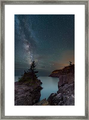 On The Edge Framed Print by Michael Blanchette