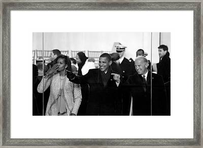 On The Viewing Stand - 2009 Inaugural Parade Framed Print by Mountain Dreams