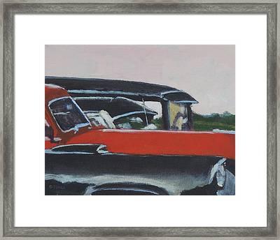 Black And Orange  Framed Print by Bill Tomsa