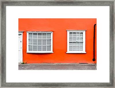 Orange House Framed Print by Tom Gowanlock
