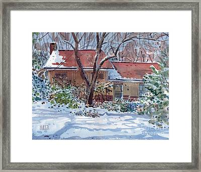 Our House Framed Print by Donald Maier