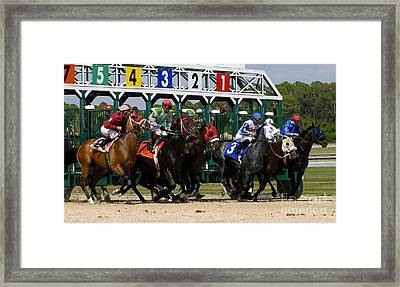 Out Of The Gate Framed Print by David Lee Thompson