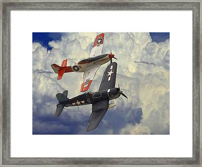 Over The Clouds Framed Print by Steve K