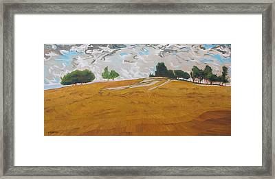 Over The Golden Field Framed Print by Francois Fournier