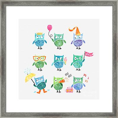 Owls Are A Hoot Framed Print by Natalie Kinnear