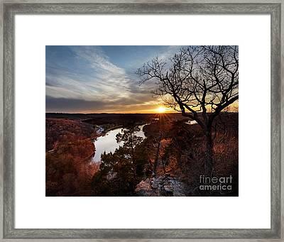 Ozark Sunset Framed Print by Dennis Hedberg