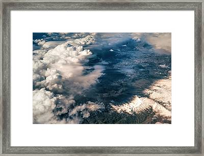 Painted Earth II Framed Print by Jenny Rainbow