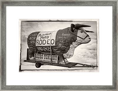 Painted Pony Rodeo Lake George Framed Print by Edward Fielding