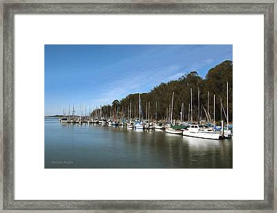 Painting Bay Side Harbor Framed Print by Barbara Snyder