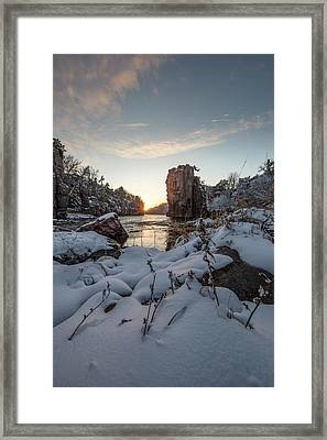 Palisades First Snow Framed Print by Aaron J Groen