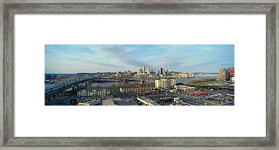 Panoramic Afternoon Shot Of Cincinnati Framed Print by Panoramic Images