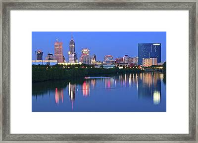 Panoramic Indianapolis Framed Print by Frozen in Time Fine Art Photography