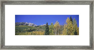 Panoramic Of Autumn Color Framed Print by Panoramic Images