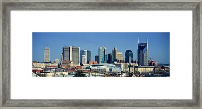 Panoramic View Of Nashville, Tennessee Framed Print by Panoramic Images