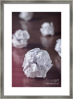 Paper Balls Framed Print by Carlos Caetano