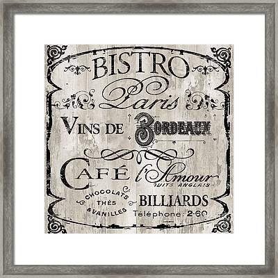 Paris Bistro    Framed Print by Mindy Sommers