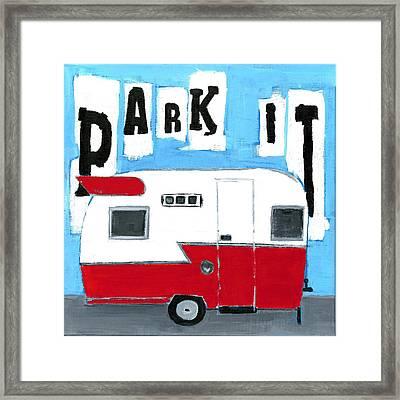 Park It Framed Print by Debbie Brown