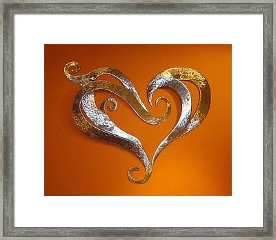 Passion Hearts Framed Print by Diane Snider