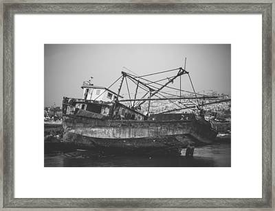 Past Memories Of The Sea Framed Print by Mountain Dreams