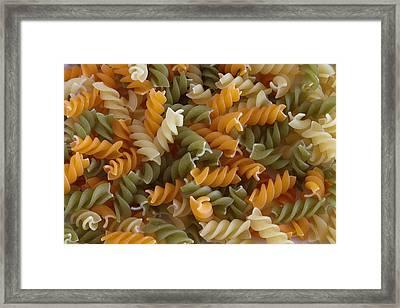 Pasta Framed Print by D Plinth