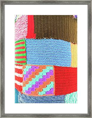Patchwork Wool Framed Print by Tom Gowanlock