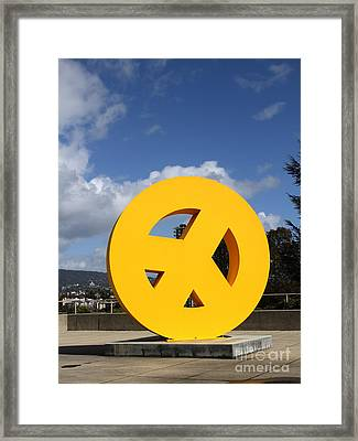 Peace From The Oakland Museum . Oakland California . 7d13411 Framed Print by Wingsdomain Art and Photography