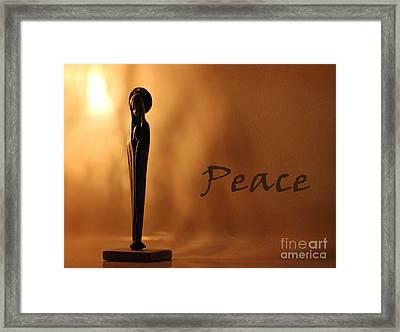 Peace Framed Print by Karen Adams