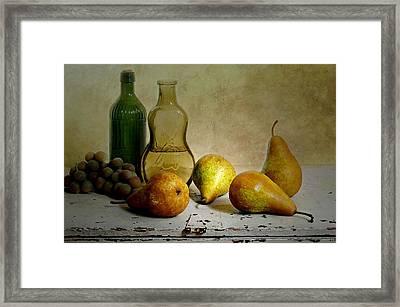 Pears'n Bottles Framed Print by Diana Angstadt