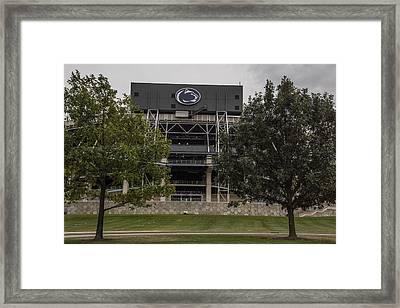 Penn State Beaver Stadium  Framed Print by John McGraw