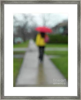 People In The Rain Framed Print by Oleksiy Maksymenko