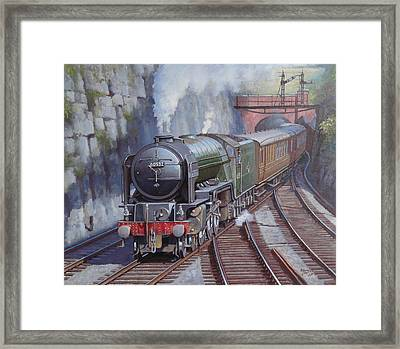 Peppercorn Pacific. Framed Print by Mike  Jeffries