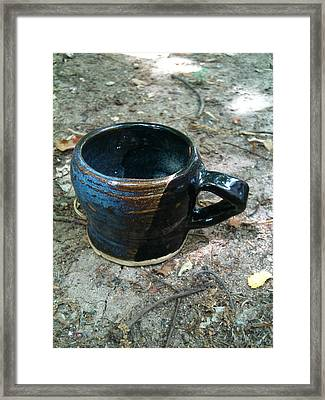 Petite Tea Cup Framed Print by Emily Osborne