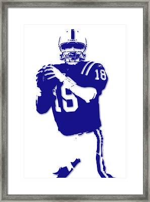 Peyton Manning Colts Framed Print by Joe Hamilton