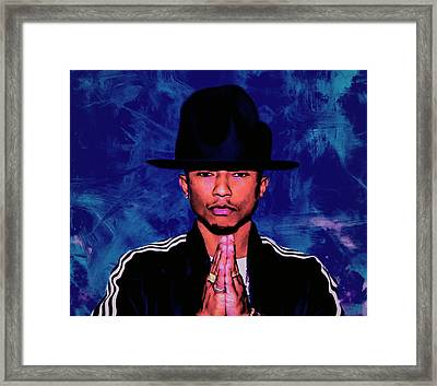 Pharrell Williams Happy Framed Print by Brian Reaves