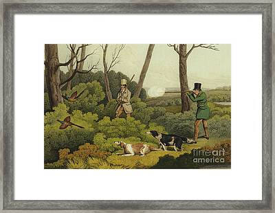 Pheasant Shooting Framed Print by Henry Thomas Alken