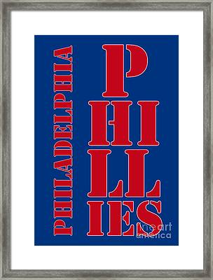Philadelphia Phillies Typography Framed Print by Pablo Franchi