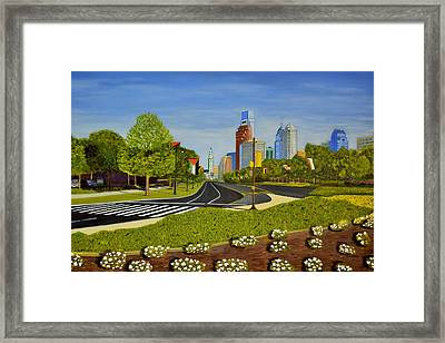 Philadelphia Skyline Framed Print by Michael Walsh