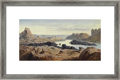 Philae Framed Print by Edward Lear
