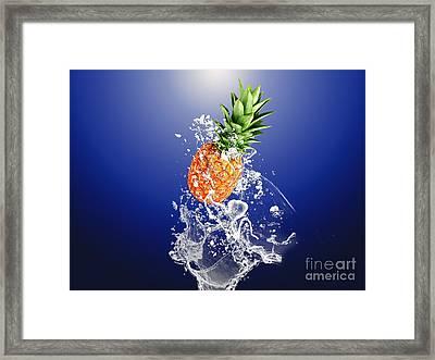 Pineapple Splash Framed Print by Marvin Blaine