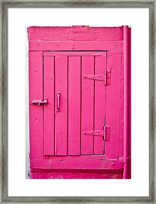Pink Door Framed Print by Tom Gowanlock