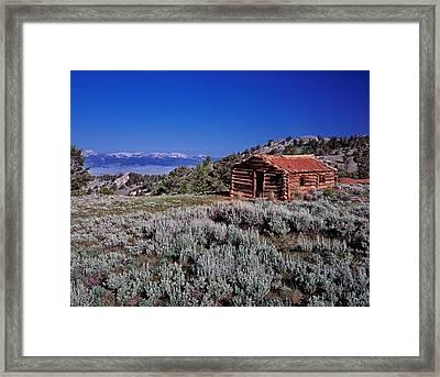 Pioneer Cabin Framed Print by Leland D Howard