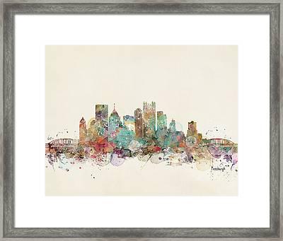 Pittsburgh Framed Print by Bri B
