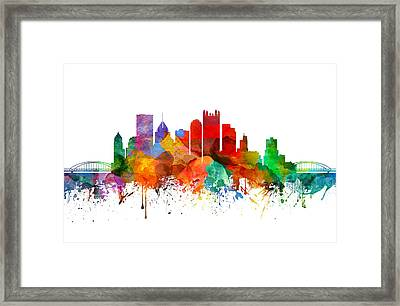 Pittsburgh Pennsylvania Skyline 19 Framed Print by Aged Pixel