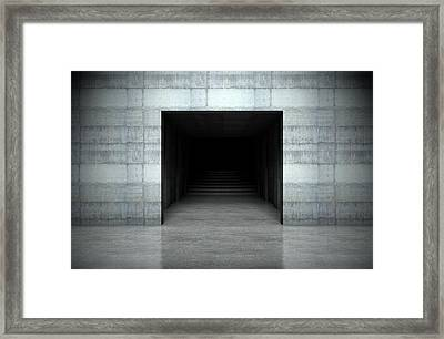 Player Stadium Entrance Framed Print by Allan Swart