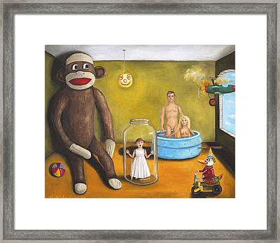 Playroom Nightmare 2 Framed Print by Leah Saulnier The Painting Maniac