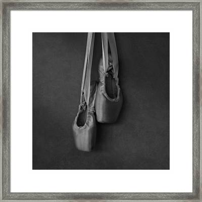 Pointe Shoes Bw Framed Print by Laura Fasulo